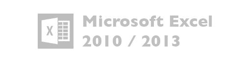 Microsoft Excel versiones 2010, 2013