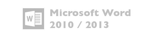 Microsoft Word versiones 2010, 2013