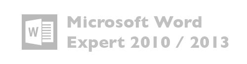 Microsoft Word Expert versiones 2010, 2013