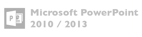 Microsoft PowerPoint versiones 2010, 2013